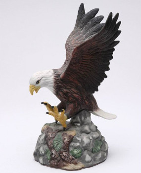 Landing Eagle Bird Porcelain Sculpture