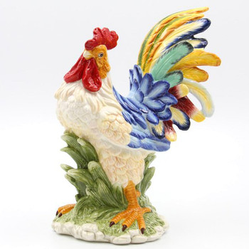 Rooster Bird Porcelain Sculpture