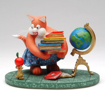 Tom Cat Teacher Cat Sculpture