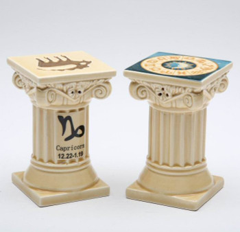 Zodiac Capricorn Porcelain Salt and Pepper Shakers, Set of 4