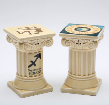 Zodiac Sagittarius Porcelain Salt and Pepper Shakers, Set of 4