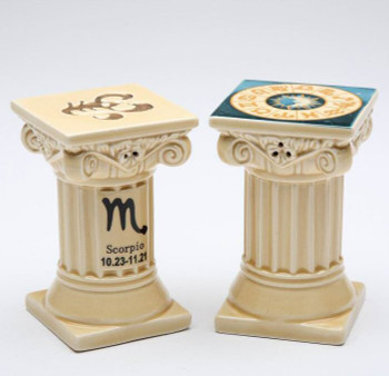Zodiac Scorpio Porcelain Salt and Pepper Shakers, Set of 4