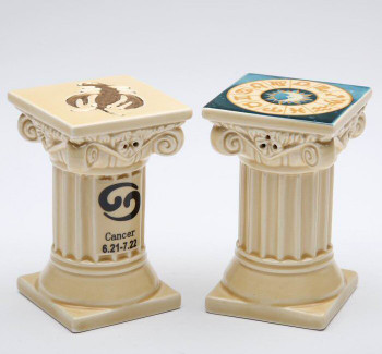 Zodiac Cancer Porcelain Salt and Pepper Shakers, Set of 4