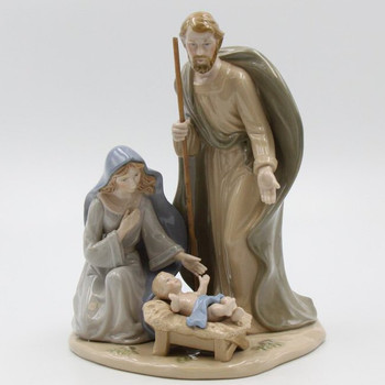 Large Holy Family Porcelain Sculpture