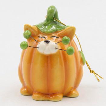 Whisker Cat Pumpkin Christmas Tree Ornaments, Set of 4