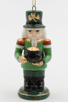 Irish Nutcracker Christmas Tree Ornaments, Set of 4