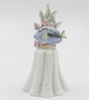 Blue Fish Porcelain Bells, Set of 2