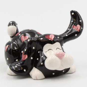 Miniature Dog Full of Love Porcelain Sculpture