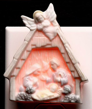 Nativity Scene Plug-in Porcelain Night Lights, Set of 2