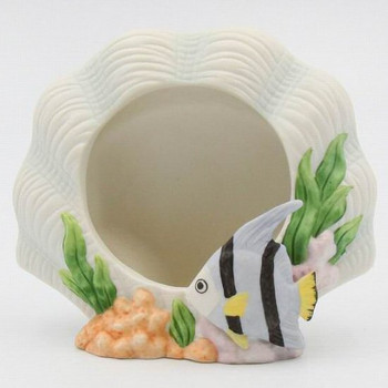 Angel Fish Porcelain Picture Frames, Set of 2