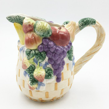 Assorted Fruits Ceramic Pitcher