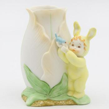 Baby Bunny Porcelain Vase