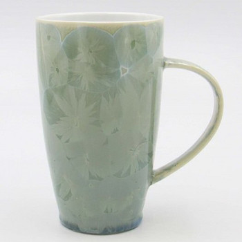 Crystalline Green Coffee Mugs, Set of 2