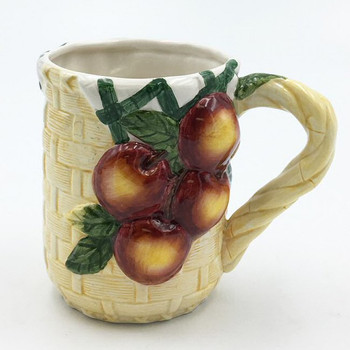 Apple Basket Coffee Mugs, Set of 4