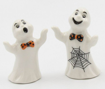 Casper the Ghost Porcelain Salt and Pepper Shakers, Set of 4
