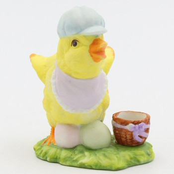 Baby Boy Chicken Porcelain Taper Candle Holders, Set of 4