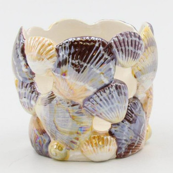Shell Porcelain Tea Light Candle Holders, Set of 4