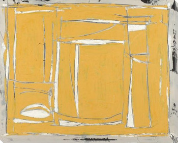 Abstract of Yellow Wrapped Canvas Giclee Art Print Wall Art