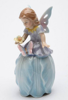 Fairy Bell Tulip Flower Porcelain Sculpture