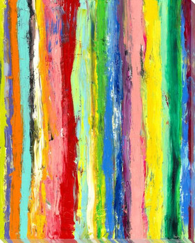 Stripe Conscience 1 Wrapped Canvas Giclee Art Print Wall Art