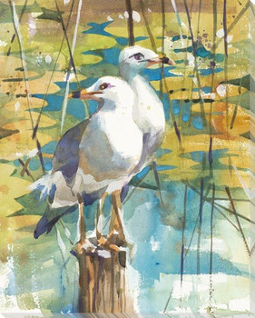 A Point of View Seagull Birds Wrapped Canvas Giclee Art Print Wall Art