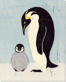 Penguin Birds Wrapped Canvas Giclee Art Print Wall Art