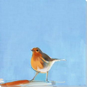 Tweet Tweet Bird 3 Wrapped Canvas Giclee Art Print Wall Art