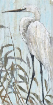 Fresh Water Egret Bird II Wrapped Canvas Giclee Art Print Wall Art