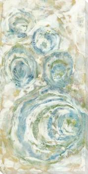 Elliptical Green Wrapped Canvas Giclee Art Print Wall Art