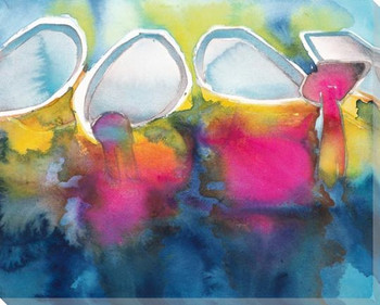 Sunset Thai Wrapped Canvas Giclee Art Print Wall Art