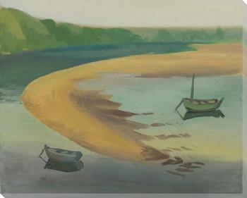 Mellow Seascape 2 Wrapped Canvas Giclee Art Print Wall Art