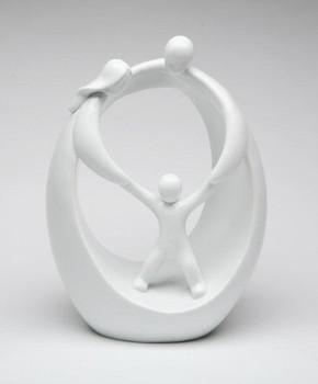 Family Scene Porcelain Figurine Sculpture