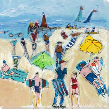 Napping at the Beach Wrapped Canvas Giclee Art Print Wall Art