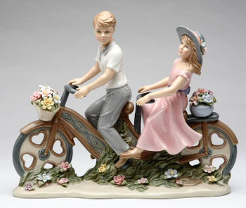 I Take You For a Ride Porcelain Sculpture