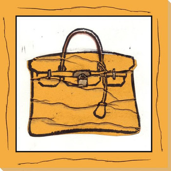 Hermes Purse Wrapped Canvas Giclee Art Print Wall Art