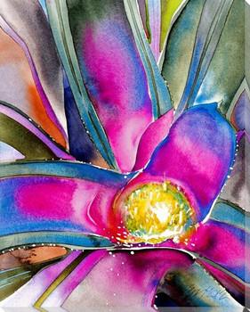 Pink Bromeliad II Wrapped Canvas Giclee Art Print Wall Art