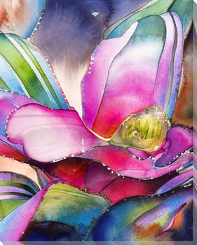 Pink Bromeliad I Wrapped Canvas Giclee Art Print Wall Art
