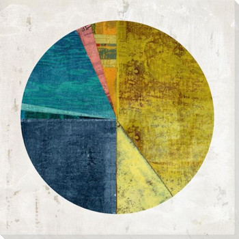 Pie Chart Construction 4 Wrapped Canvas Giclee Art Print Wall Art