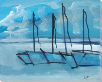 Sailing Class Wrapped Canvas Giclee Art Print Wall Art