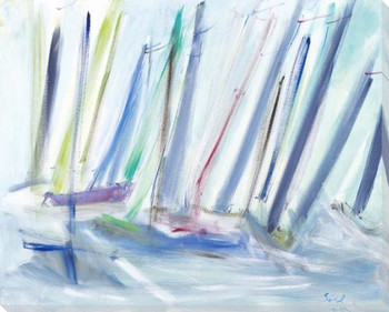 Regatta Boat Races Wrapped Canvas Giclee Art Print Wall Art