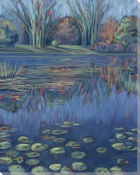 Reflection Pond Wrapped Canvas Giclee Art Print Wall Art