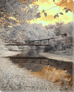 Forest Park Bridge Wrapped Canvas Giclee Art Print Wall Art