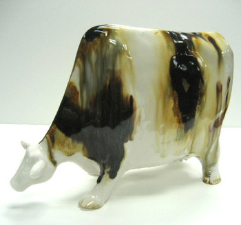 Cow Porcelain Figurine Sculpture