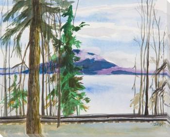 State Park WA Wrapped Canvas Giclee Art Print Wall Art
