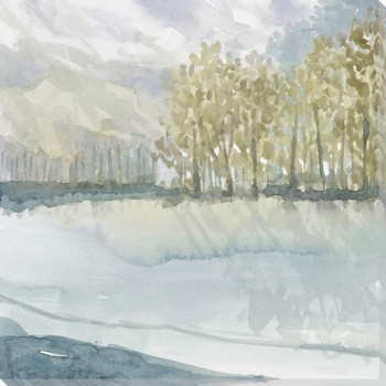 Laurel Grove Left Wrapped Canvas Giclee Art Print Wall Art