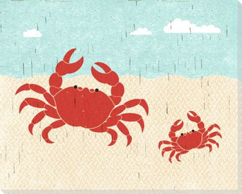 Crabs Wrapped Canvas Giclee Art Print Wall Art