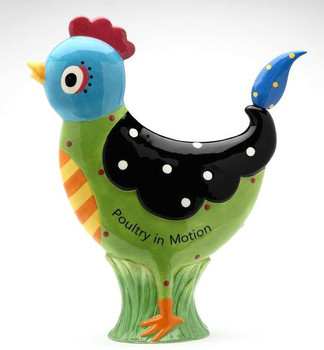 Poultry in Motion Hen Porcelain Figurine