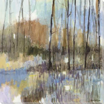 Muted Woodland IV Wrapped Canvas Giclee Art Print Wall Art