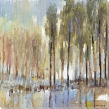 Muted Woodland II Wrapped Canvas Giclee Art Print Wall Art