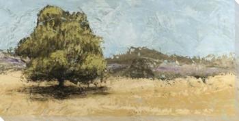 Lone Oak Wrapped Canvas Giclee Art Print Wall Art